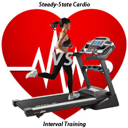 steady state cardio vs interval training