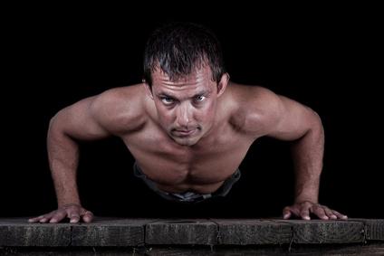 man doing pushup