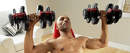 Adjustable Dumbbells exercise