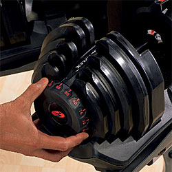 how to use bowflex selecttech dumbbells