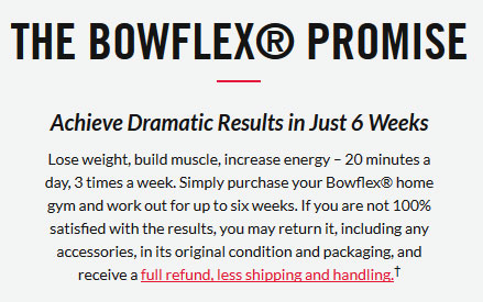 bowflex marketing claim