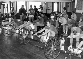 history of rowing machines
