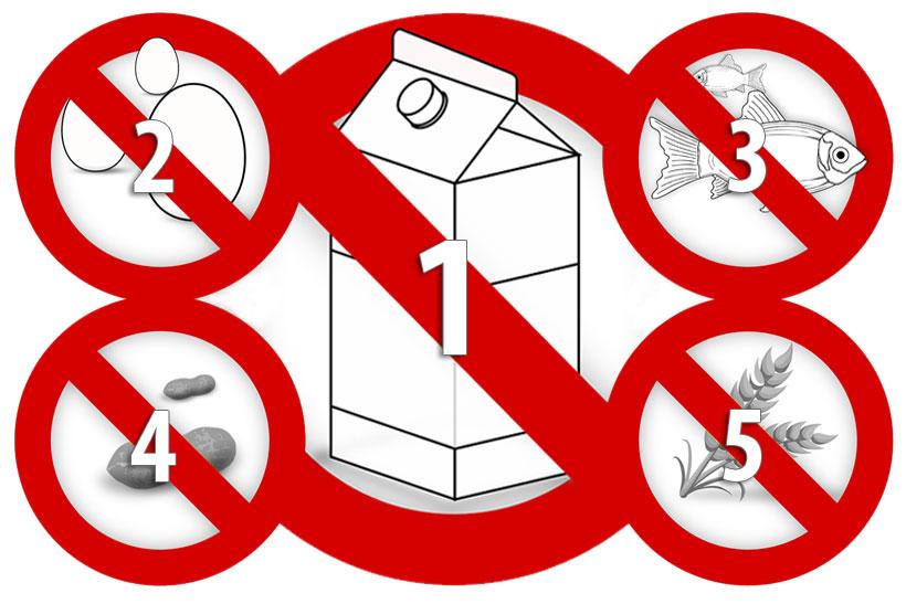 top 5 food allergies