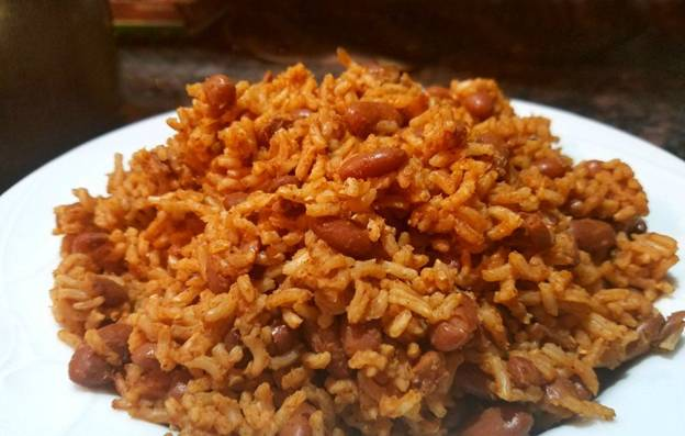 rice beans plate